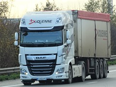 DAF XF116 superspacecab from Duquenne France. (capelleaandenijssel) Tags: fj624pt truck trailer lorry camion lkw