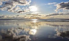 Skyflection (Andy.Gocher) Tags: andygocher nikon d3500 uk wales southwales treathmawr southerndown dunravenbay cloudscape clouds sky reflection sun sunrise