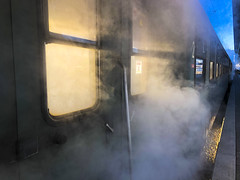 Xmas Steam Express 04 (memories-in-motion) Tags: munich steam engine dampflok santa claus xmas express travel vintage event technology analog apple iphone 8plus railway