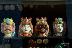 """ceramiche """"Teste di Moro"""" (guidoa58) Tags: guidoa58 viaggio sicilia trinacria barocco unesco valdinoto scultura paladino saraceno angelica tradizione artigianato"""