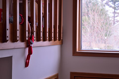 6.Hold Tight Dolly! (robjvale) Tags: d3200 nikon elfonashelf bauble hanging holdon