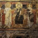 01 Фреска с изображением Христа в окружении западных и восточных святителей. ц.С-Мария Антиква VII в