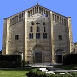 34а Собор Сан-Микеле Маджоре, 1155. Зап. фасад. Павия, Италия