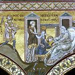 26с Византийские мозаики в Монареале.  Исаак благословляет Иакова 1183-1189