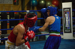 46388 - Hook (Diego Rosato) Tags: boxe boxing pugilato boxelatina ring match incontro nikon d700 tamron 2470mm rawtherapee pugno punch hook gancio dodge schivata