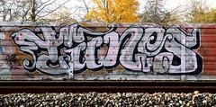 Graffiti in Amsterdam (wojofoto) Tags: amsterdam nederland netherland holland graffiti streetart wojofoto wolfgangjosten trackside railway spoor spoorweg tunes