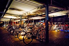Awaiting The Next Generation (MiBro) Tags: fahrrad fahrräder bahnhof parkride bicycle nachtaufnahme nacht night spot