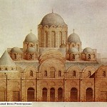 13 Софийский собор в Киеве (1037-40). Западный фасад Реконструкция на XI-XII вв