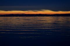 Garda Lake (Valentina Nappini) Tags: sunset dark blue orange lake garda brescia lombardia italy nikon d3200