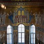 18а Евхаристия и святители. Мозаика алтарной абсиды Софии Киевской
