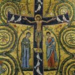24а Мозаика в конхе абсиды ц.С-Клементе, Фрагмент