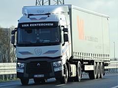 Renault T-range low from van Renterghem Belgium. (capelleaandenijssel) Tags: 1vrj406 truck trailer lorry camion lkw