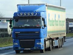 DAF XF105 spacecab from Flanders Food Transport Romania. (capelleaandenijssel) Tags: bn07ats truck trailer lorry camion lkw ro