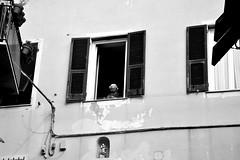 The  lady at the window (Valentina Nappini) Tags: lady window working home wall monocrome boccadasse genova liguria italy nikon d3200