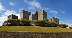 Castle Rushen (Beardy Vulcan II) Tags: castletown bush wall castle castlerushen coast seaside resort isleofman manx summer june 2016 medieval