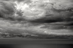 Wrath (L@nce (ランス)) Tags: storm cloud cloudy clouds skyscape sky monochrome bw victoria canada juandefuca pacific ocean salishsea