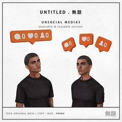(group gift) unsocial medias (Untitled Store SL) Tags: second life untitled gift store media