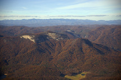 Table Rock (SC) (oldoinyo) Tags: mountains aerial landscape scenic southern autumn foliage sky