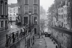 Utrecht Oude Gracht (thijs.coppus) Tags: water nevel mist fog mitakon canal city niederlande oudegracht oudegract gracht holland utrecht