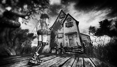 Mysticism House (Xia Chieng) Tags: secondlife sl bnw blackandwhite virtualword fairytales mystism drd creppy house creppyhouse witch fairy
