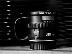 focused (fromkmr) Tags: mug lookingcloseonfriday sonya99ii sony100mmmacro blackandwhite monochrome