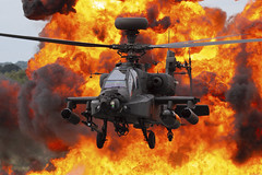 AAC Apache 2019 demo finale (Jon Hylands) Tags: aac demo apache aviation airshow helicopter finale aerospace fairford riat royalinternationalairtattoo armyaircorps wah64d zj181 2019 explosion pyrotechnics fire uk gb eos 70d canon tattoo military