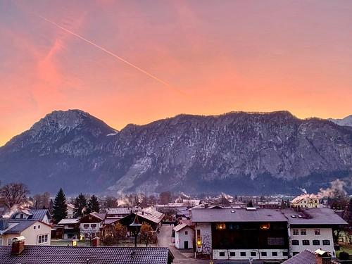 Autumn dawn over Kiefersfelden, Bavaria, Germany