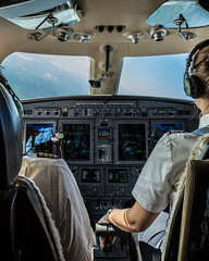 How's the weather, cap? (Jochem van de Weg) Tags: plane airplane pilot avgeek canon cockpit aviation flying sky 6d