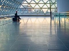 blue hour (judydeanclasen) Tags: düsseldorf solitary windows reflections candid floor k21 bluehour museum architecture