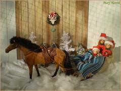 6.advent day (Mary (Mária)) Tags: christmas advent horse winter wonderland snov snowflake doll barbie mattel sweater santaclaus santa ornaments diorama dollphotography dollcollector slade riding handmade sixt sixscale marykorcek