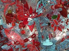 Shiny and Bright (kfocean01) Tags: christmas vividchristmastrees holidays red abstract photomanipulation photoshop filter create art showusyourholiday shockofthenew vivid silver