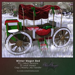 Winter Wagon Bed (*StarSugar*) Tags: southern charm sl second life event
