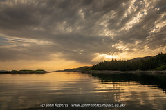 Sunset over Loch Shark, Sutherland (john@johnrobertsimages.co.uk) Tags: horizon landscape calm lakedistrict water land outdoor lake sea unitedkingdom plant beach ocean sutherland duartmore photography sky sunlight coast uk lochshark outdoors sunrise sunset mirror inlet forest bodyofwater scenery evening weather seascape dusk loch sun summer scotland shore river cloud highland naturallandscape fairweather nature reflection morning britain
