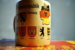 Souvenir of Germany (pardon the inerruption while I change computers :)) Tags: mug mugswithwords deutschland bundesrepublik germany 1993