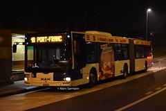 Autobus articulé MAN Lion's City n°650 en service sur la ligne 18. © Marc Germann (Marc Germann) Tags: trolleybusnawbt25 retrobus leman tl lausanne transportspublics remorques ligne9 ligne2 man articulé articulation mercedescitarobenz convois hessag hesskièpe nawhesssiemens joj2020 transport tramways bus par brise routes