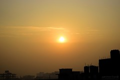 The Rising Sky (Sagor's) Tags: night dawn citylight city citylife morning fresh sun sunlight color light silhouette buildings building sky skyscrapper skytheme cloud ggmsagor ggm morshed morshedsagor bd dhaka dhakacity rise sunrise rising ☀