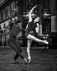 Leadenhall Duaet (Stephen L D'Agostino) Tags: blackandwhite danc dancers ballet