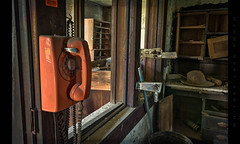 It's an Emergency (Whitney Lake) Tags: interior telephone mabell urbex rurex decay abandoned