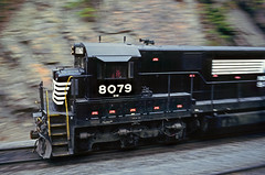 West Virginia coal hauler (Moffat Road) Tags: norfolksouthern ns norforkwestern nw ge pannedphotograph pan speedblur cab c307 coaltrain ingleside hardy westvirginia train locomotive railroad wv