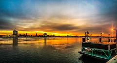 Penns Landing Sunrise (dweible1109) Tags: cellphonephoto iphone skyscape skyline sky magichour sunrise scenic landscape delawareriver delawarew pennsylvania philadelphia pennslanding