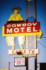 Cowboy Motel (Thomas Hawk) Tags: amarillo america cowboymotel route66 texas usa unitedstates unitedstatesofamerica cowboy motel neon neonsign fav10 fav25 fav50 fav100