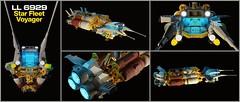 LL6929 NCS Star Fleet Voyager (Tanker Variant) (Littlepixel™) Tags: legolegolandafolclassicspace6292 space benny redux render ldraw star fleet voyager starfleet spaceship remix tanker minifig futuron ncs moc