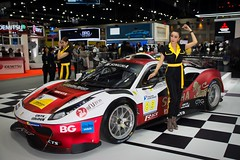 Singha Racing Ferrari with beautiful presenter at the 36th Thailand International Motor Expo 2019 at IMPACT Challenger hall in Muang Thong Thani, Nonthaburi, Thailand (UweBKK (α 77 on )) Tags: 36th thailand international motor expo 2019 impact challenger hall exhibition show auto car automotive automobile muang thong thani nonthaburi bangkok southeast asia sony alpha 77 slt dslr beautiful sext presenter model girl woman dress style fashion singha racing ferrari luxury sports