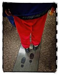 SANTA GETS HIS PRESCRIPTION (akahawkeyefan) Tags: red pants jacket line kaiser davemeyer selma