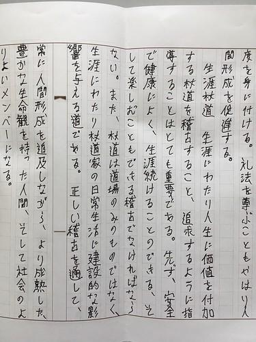 Renshi Essay Exam Excerpt