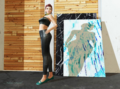 2019 12 6 Artist Model 1 (juliennsands) Tags: artist artistsmodel secondlife sl paint pleather leather backdropcity ingenue erratic storiesco