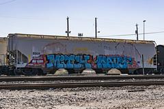 (o texano) Tags: houston texas graffiti trains freights bench benching mitch wavy