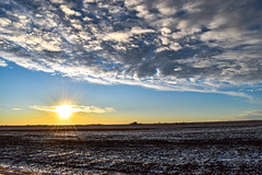 Farmers field sunset (darletts56) Tags: sky blue sun sunset sundown dusk evening field fields snow white prairie country countryside ray rays yellow gold golden grey saskatchewan canada flat flatland land landscape farm farmer farmers silhouette building buildings tree trees view
