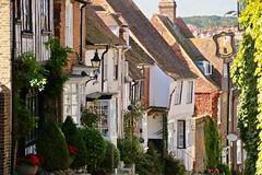 Mermaid Street (adamsgc1) Tags: rye eastsussex england uk mermaidstreet mermaidhotel pubsign steep houses