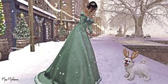 """""""Snow flurries began to fall and they swirled around people's legs like house cats. It was magical, this snow globe world."""" ― Sarah Addison Allen (๓คเค๓ςкєєภคภ Story Teller.) Tags: maiamckeenan justbecause gown winter jian tram"""